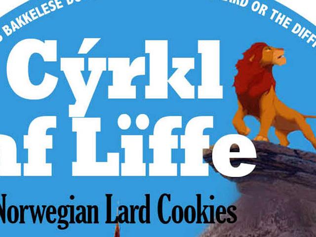 Norwegian lard cookies