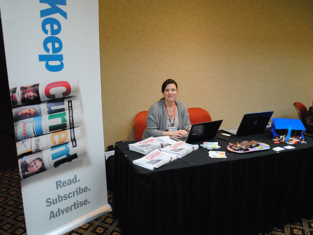 Conference exhibitor banner for Current