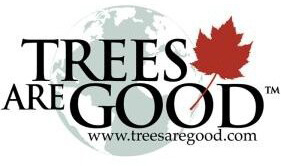 TREES ARE GOOD slogan